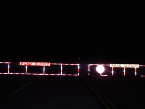 The winter closure gate at HWY 66