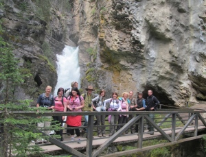 Happy germans in Johnston Canyon